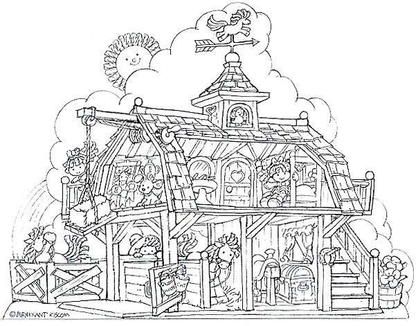 Inside Doll House Coloring Pages